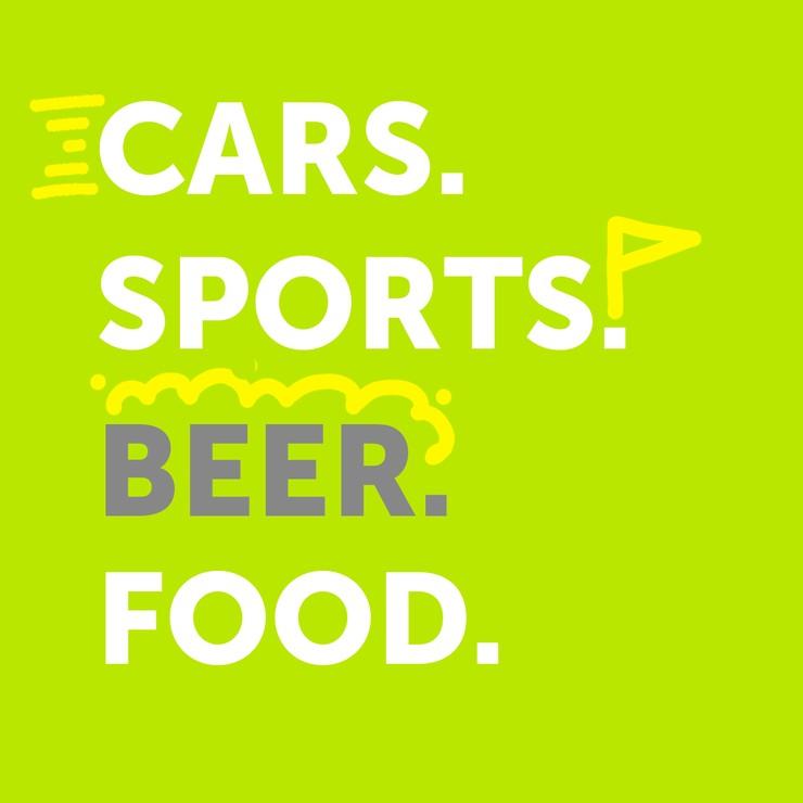 CARS. SPORT. BEER. FOOD.
